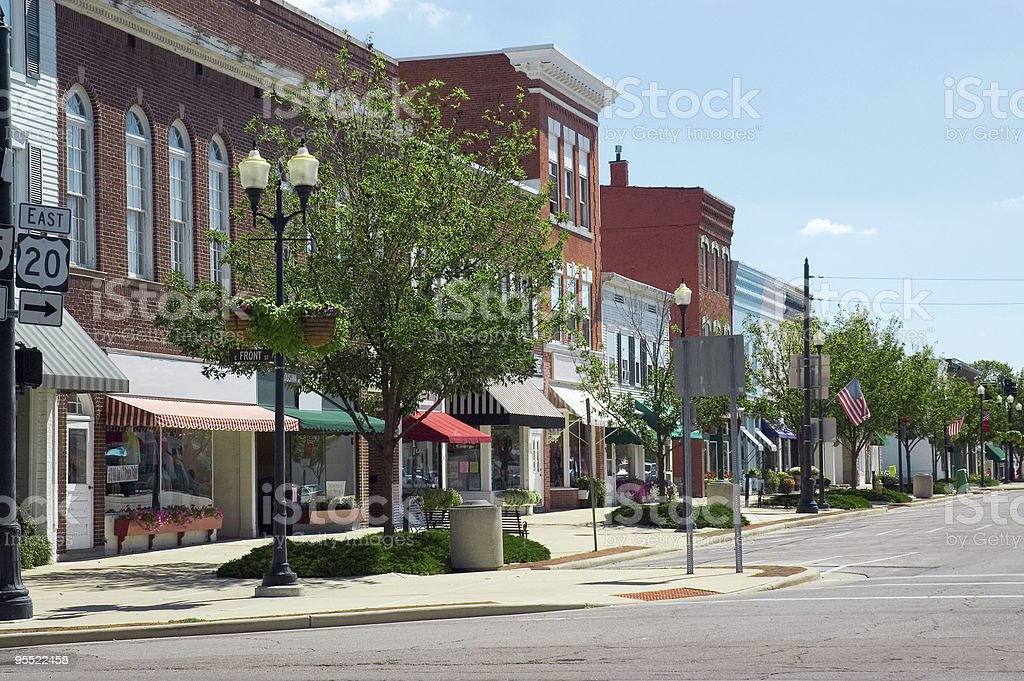 Small Town U.S.A. stock photo