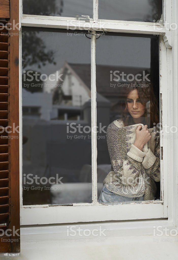 Small town yearning stock photo
