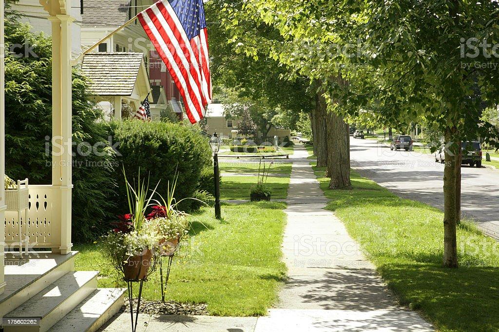 Small Town,USA stock photo