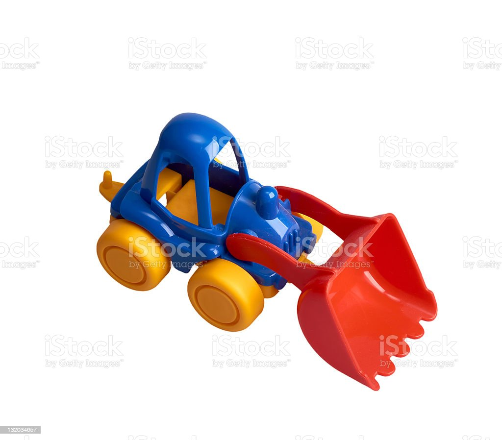 Small Toy Tractor royalty-free stock photo