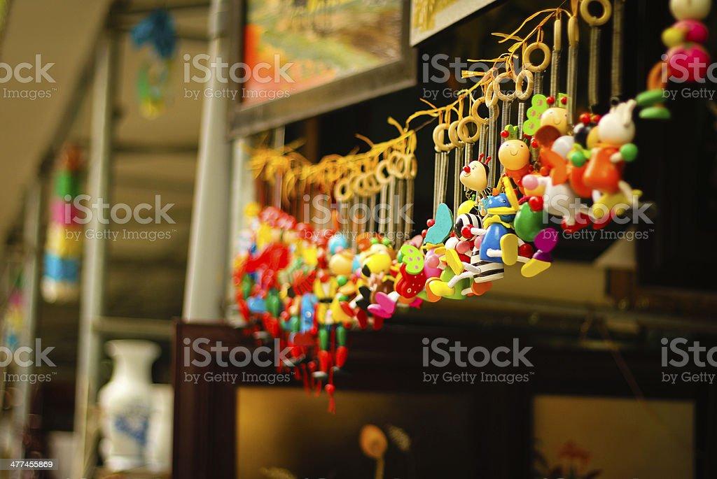 Small toys in Bat Trang village - Vietnam stock photo