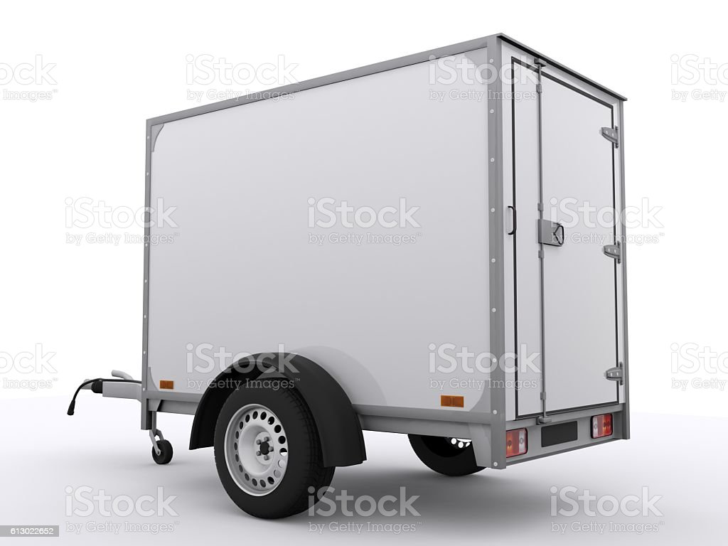 Small Trailer isolated stock photo