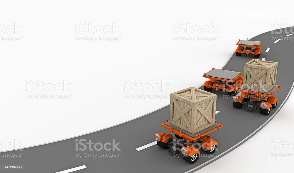 Small Transport, En Route royalty-free stock vector art