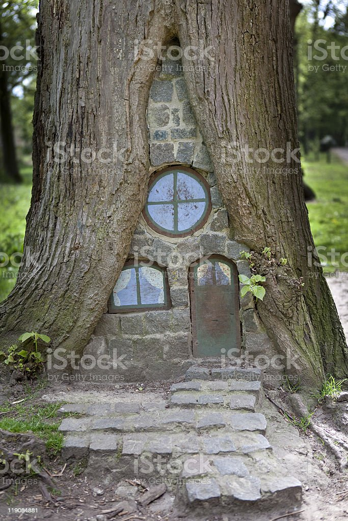Small tree house stock photo