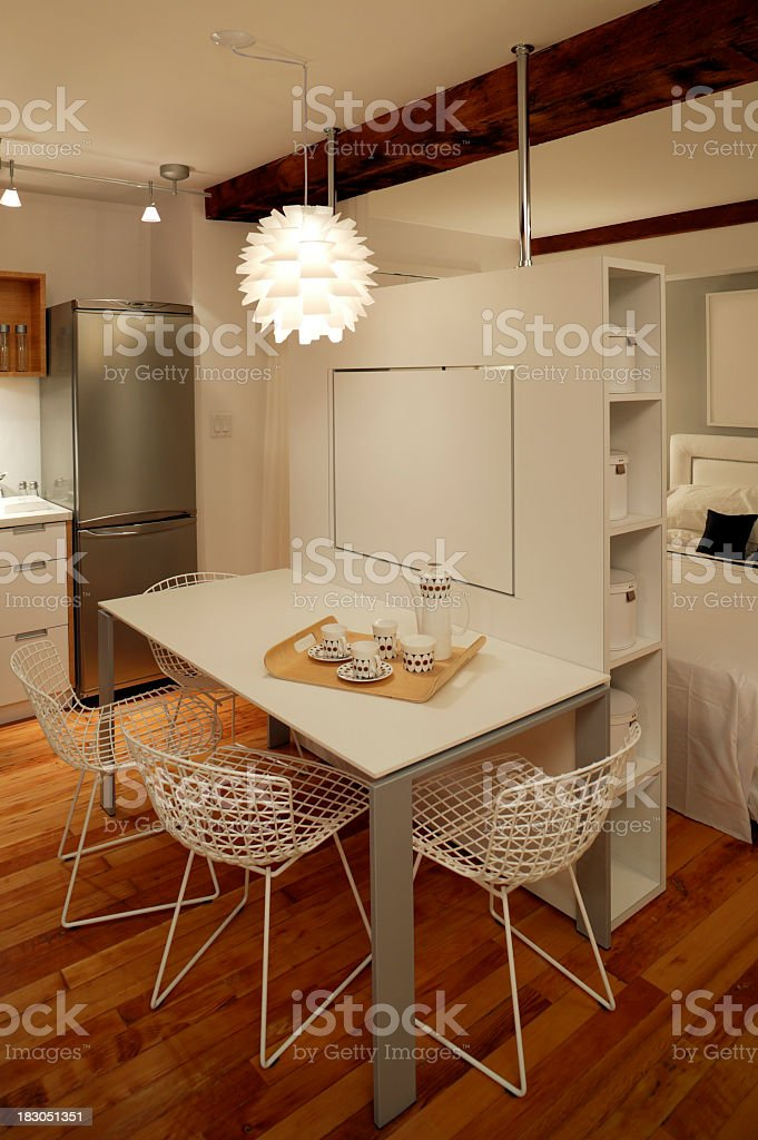 A small trendy furnished apartment royalty-free stock photo