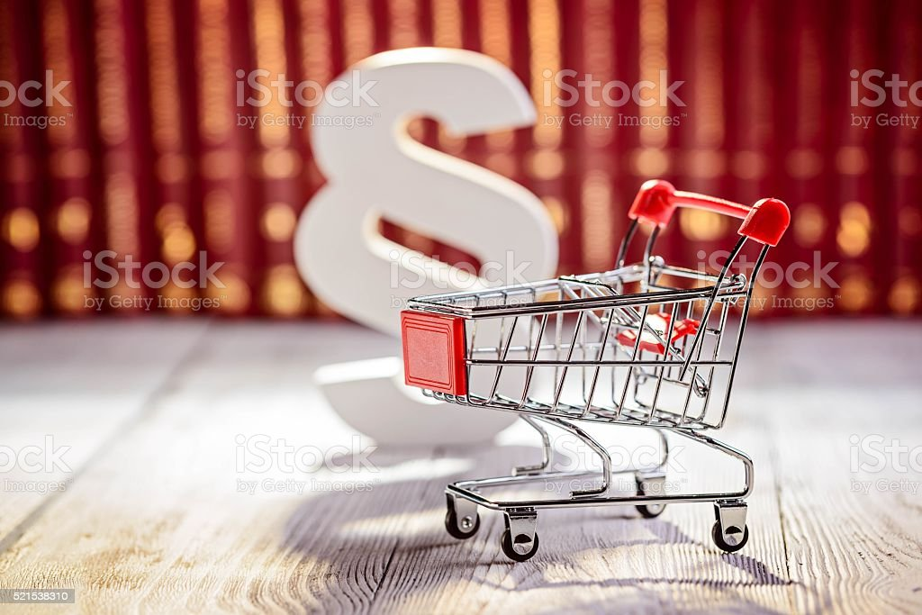 small trolley the symbol of commerce stock photo