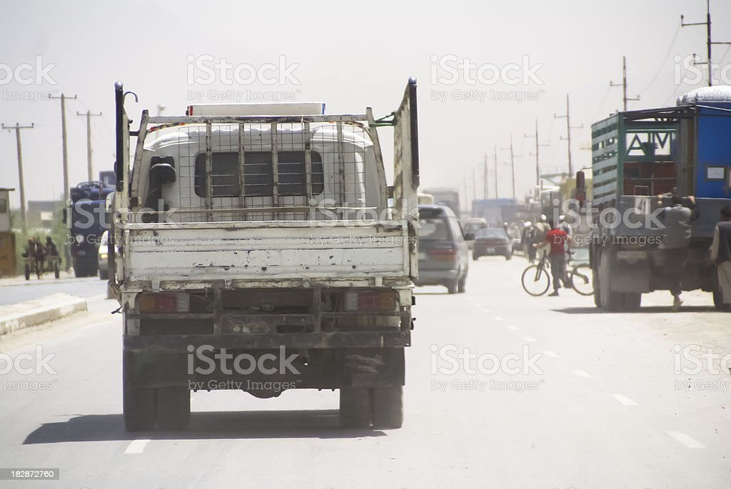 Small truck in Kabul stock photo
