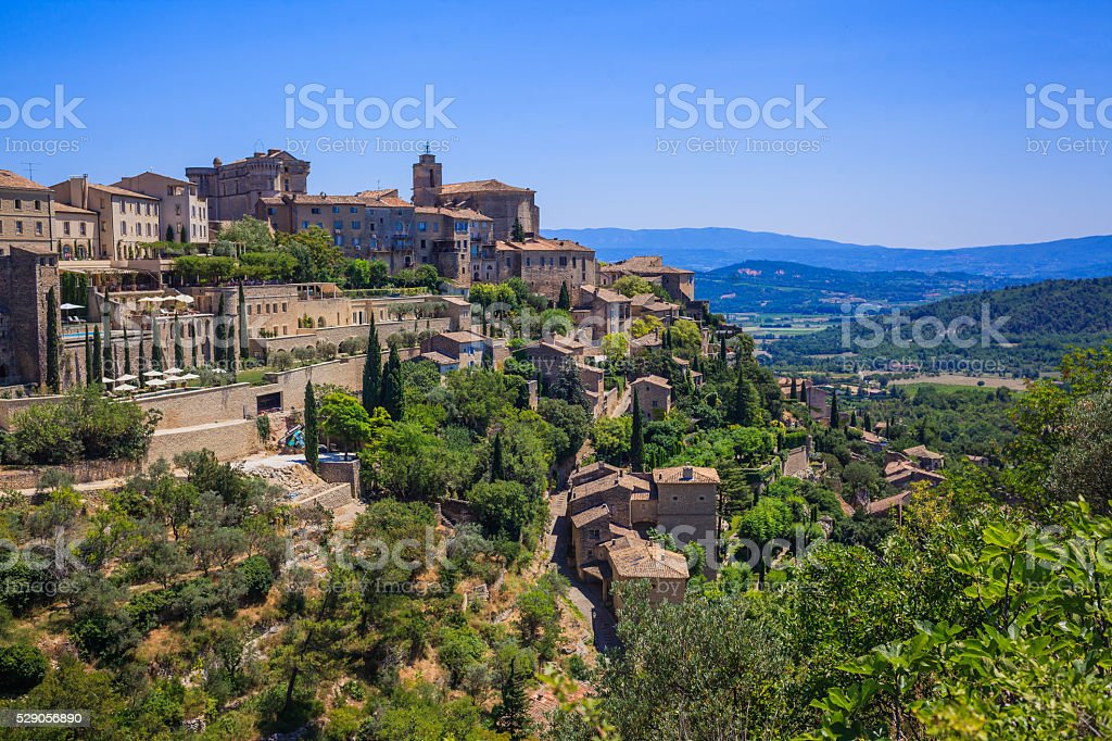 Small typical town in Provence stock photo