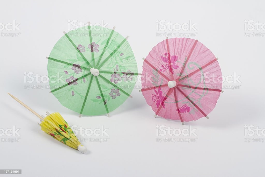 Small umbrellas royalty-free stock photo