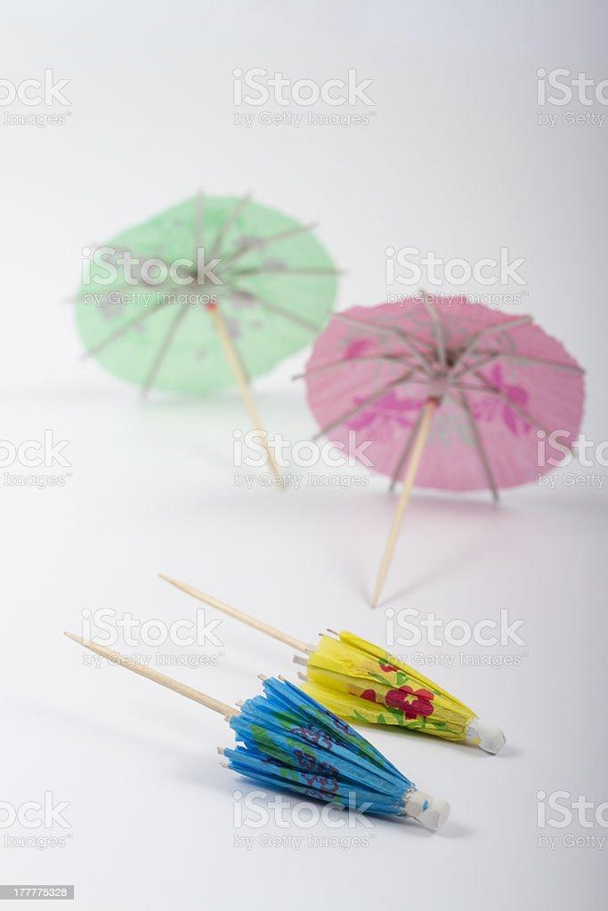 Small umbrellas stock photo