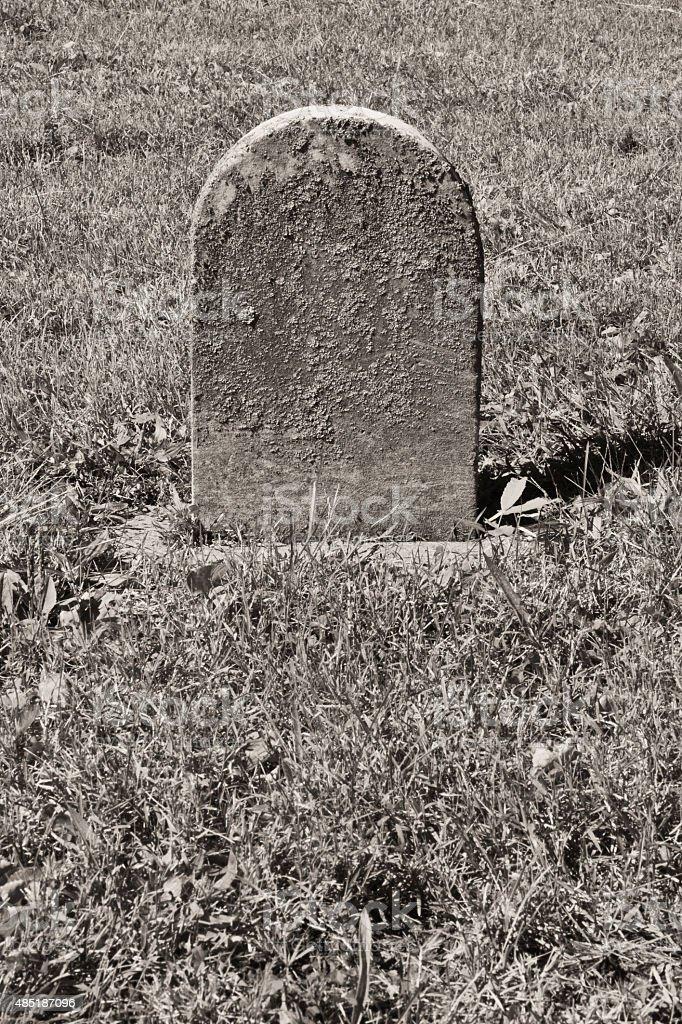 Petite Headstone Non indiqué photo libre de droits