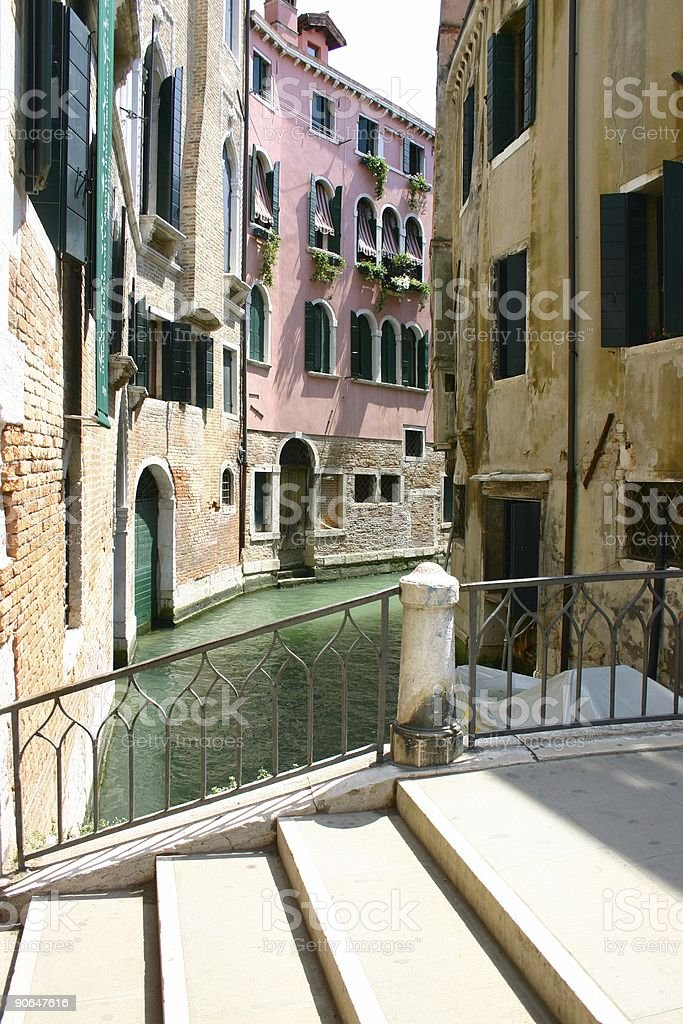 Small venice channel and bridge royalty-free stock photo