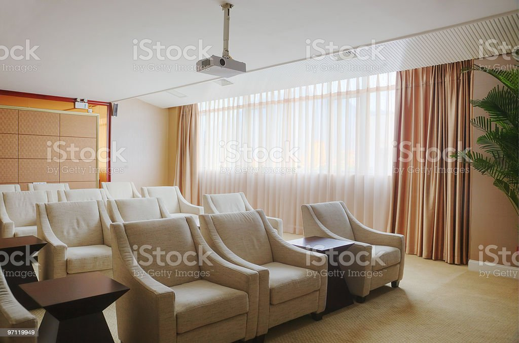Small video conference room royalty-free stock photo