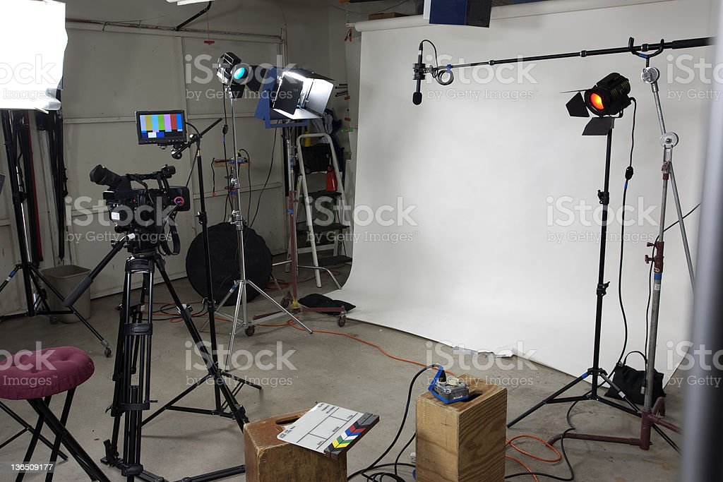 Small video studio royalty-free stock photo