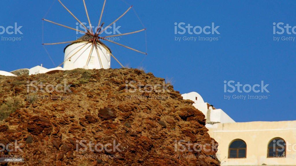 small village ammoudi on greece island santorini stock photo