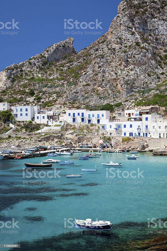 Small village in Sicily royalty-free stock photo