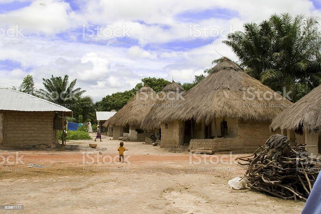 Small village in Sierra Leone royalty-free stock photo