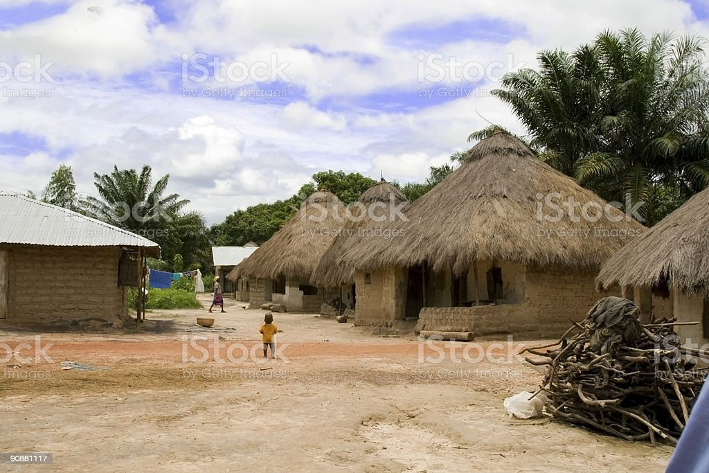 Small village in Sierra Leone stock photo