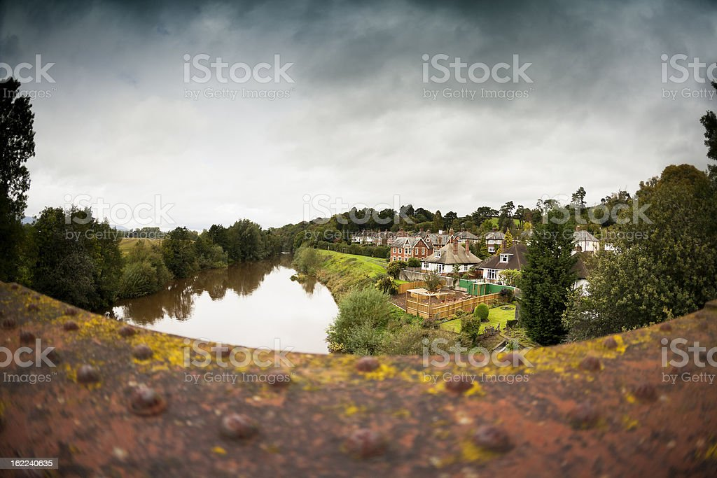 small village in south wales uk stock photo