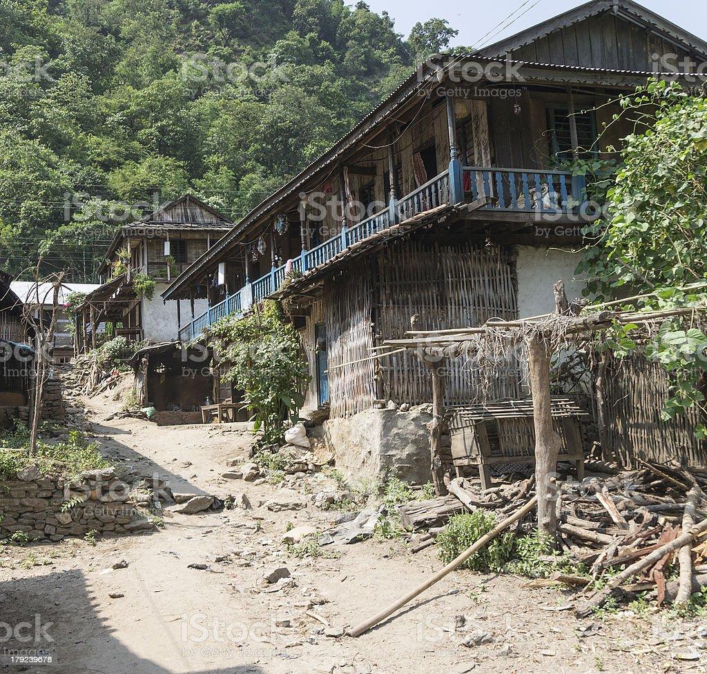 small village in the region sun koshi, nepal royalty-free stock photo