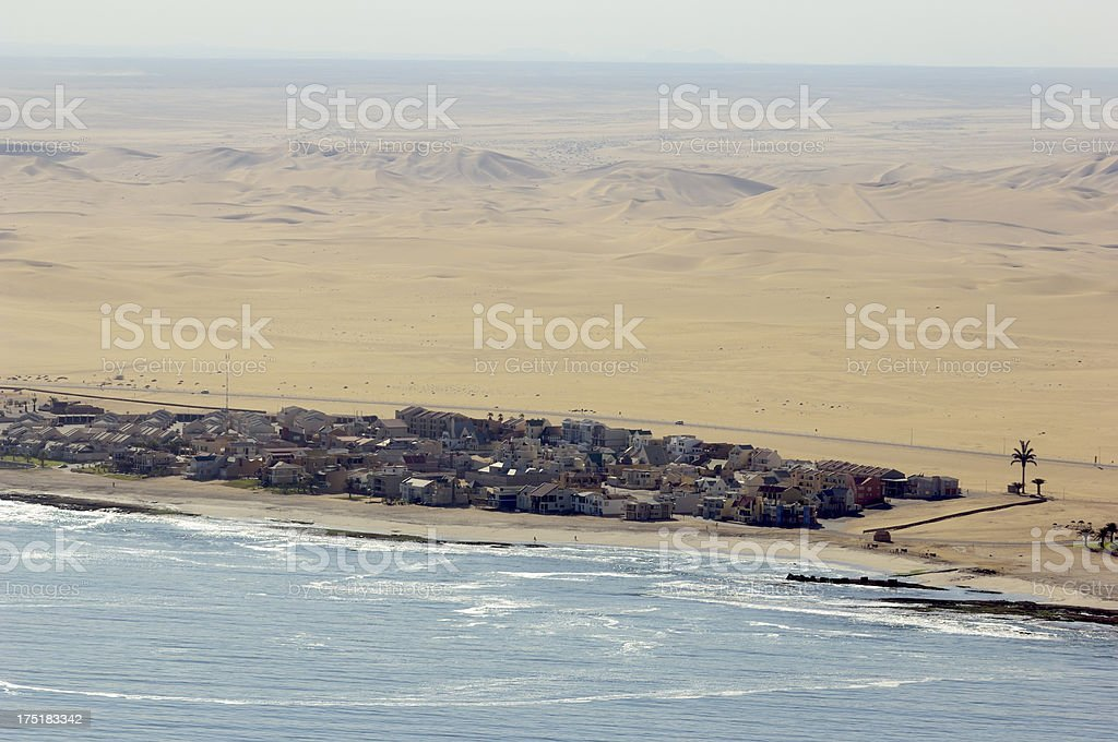 Small village inmiddle of nowhere stock photo