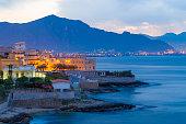 Small village of Aspra seen near Palermo, Sicily,