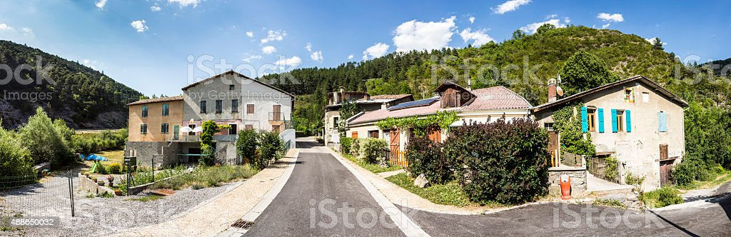 small village of Beaujeu in the French Alps stock photo
