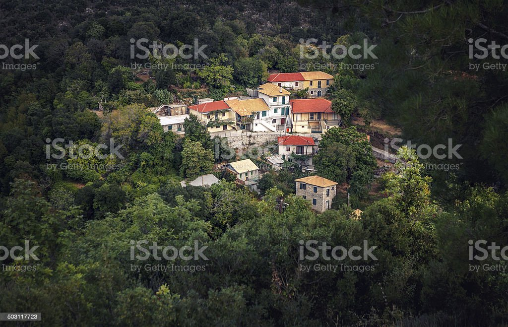 Small Village On Lefkas royalty-free stock photo