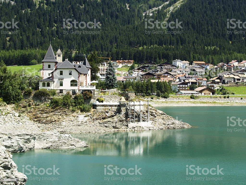 Small Village on the lake royalty-free stock photo
