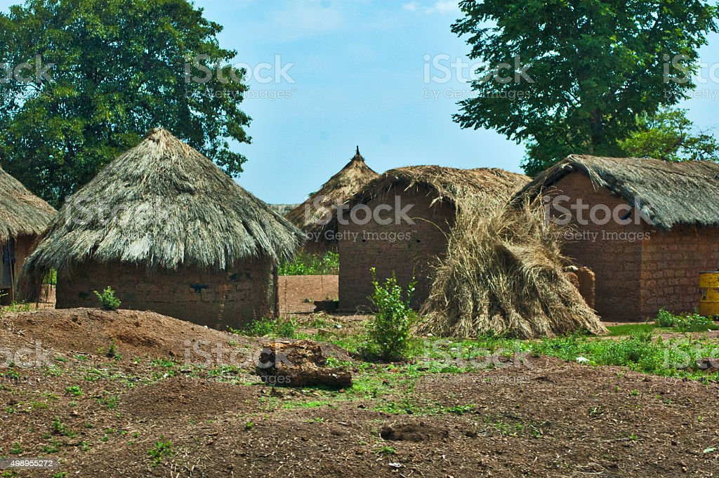 Small Village on the road to Mali stock photo