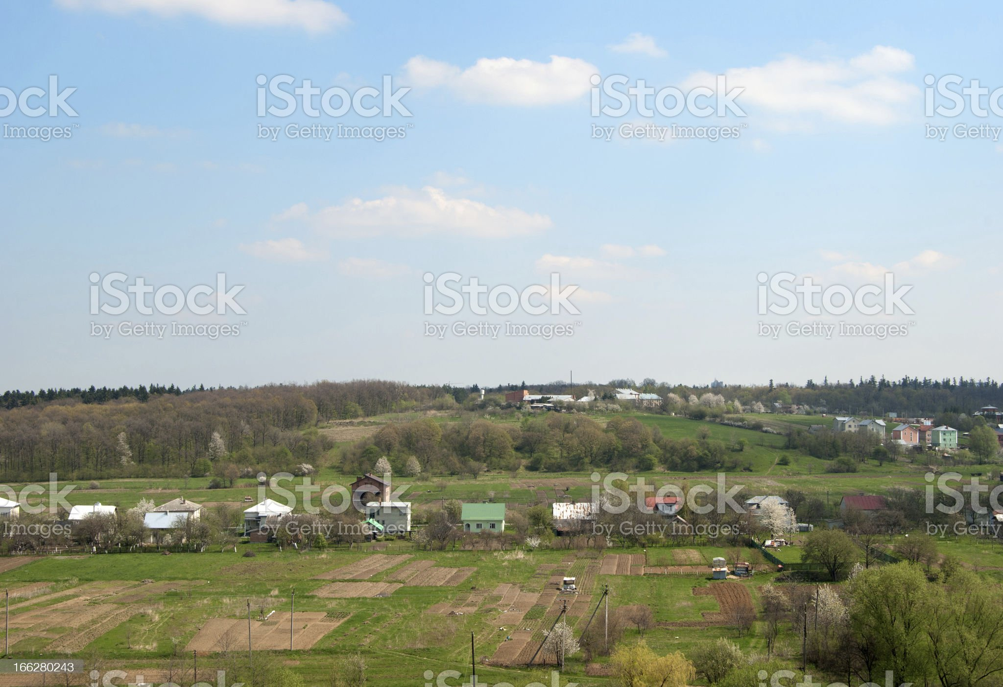 small village royalty-free stock photo