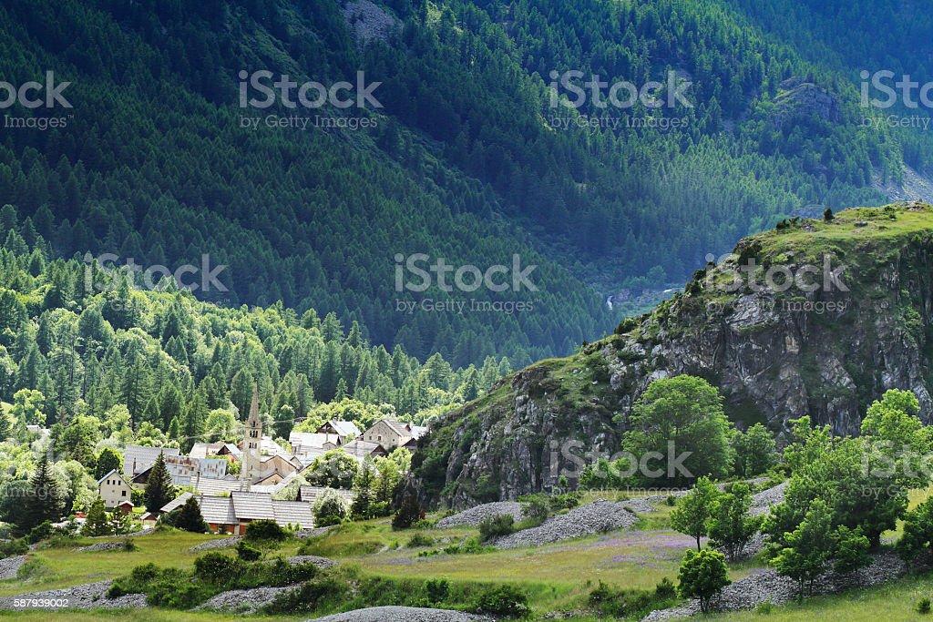 small village stock photo