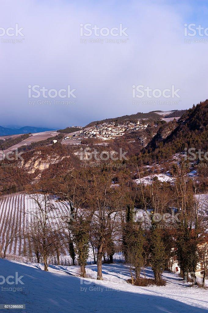 Small Villages in Val di Non - Trentino Italy stock photo