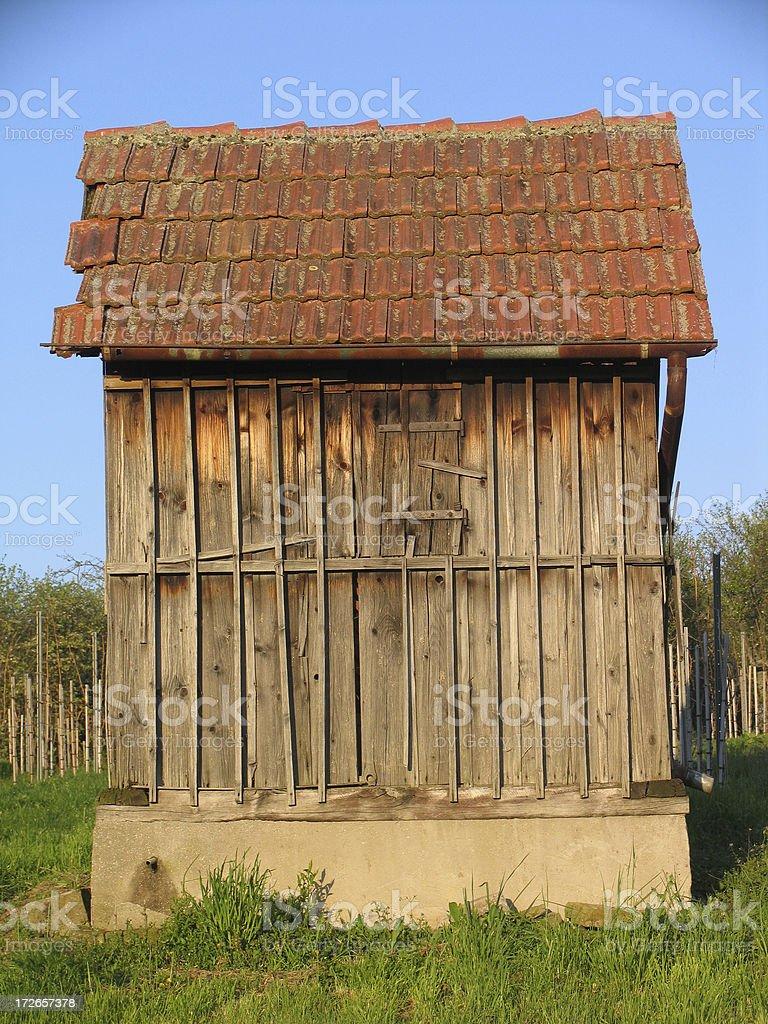 Small vineyard cottage royalty-free stock photo