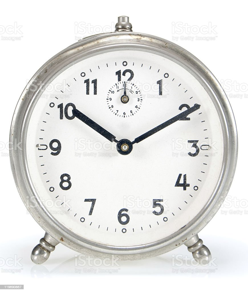 Small vintage alarm clock royalty-free stock photo