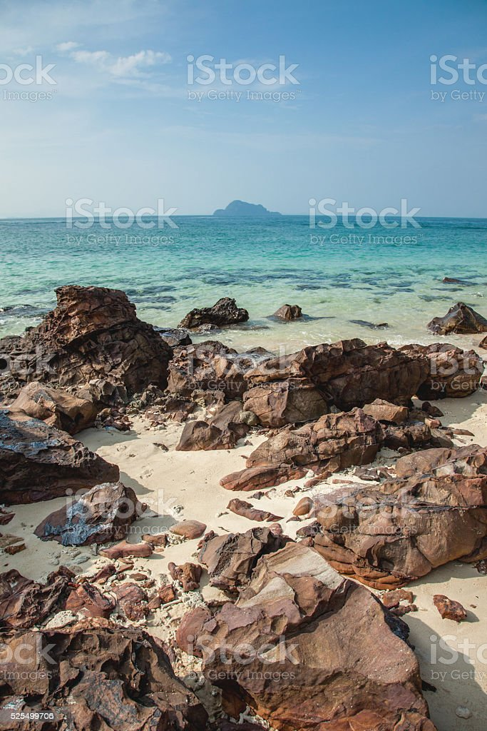 small volcanic island in Thailand stock photo