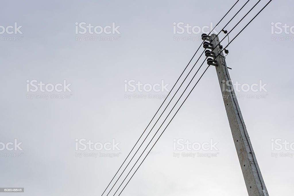 small voltage tower stock photo
