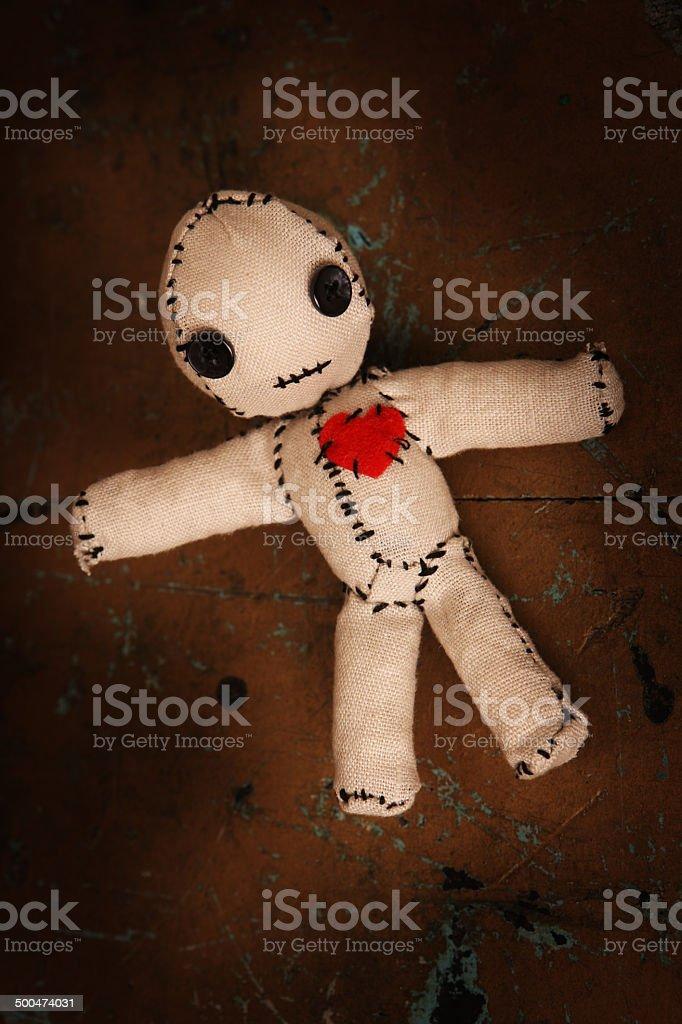 Small Voodoo Doll stock photo