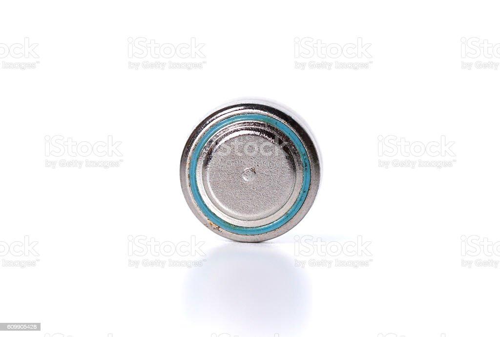 Small watch battery stock photo
