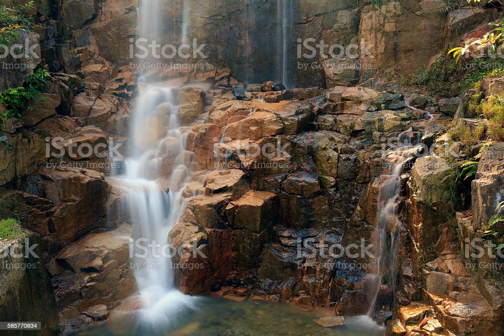 Small waterfall in Bidoup national park, Vietnam stock photo