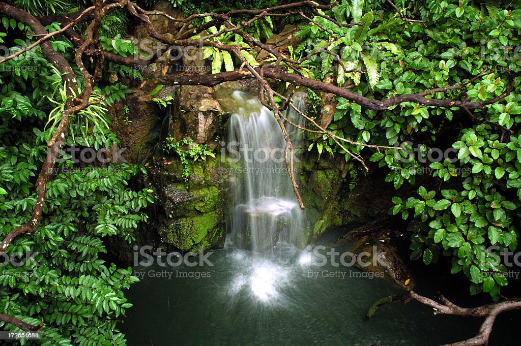 Small Waterfall royalty-free stock photo