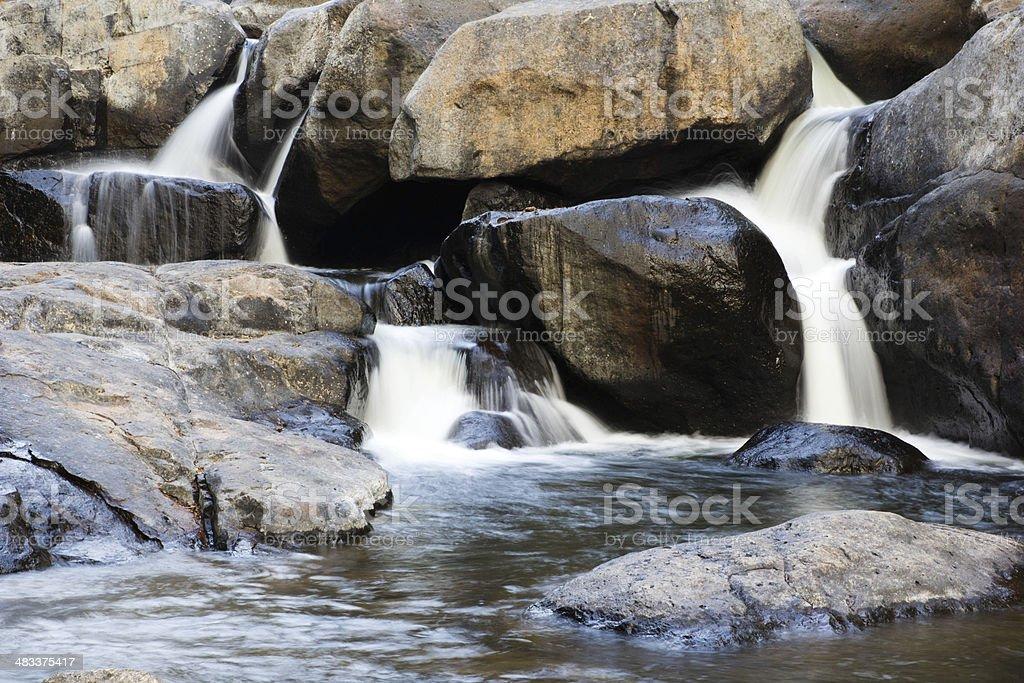 Small waterfall. stock photo