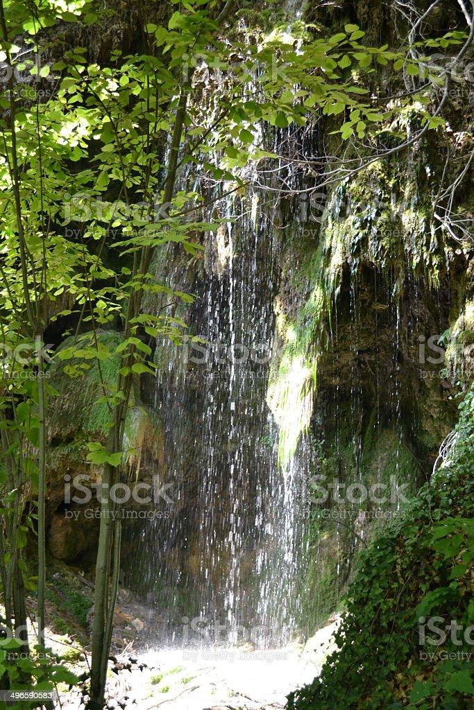 Small waterfall royalty-free stock photo