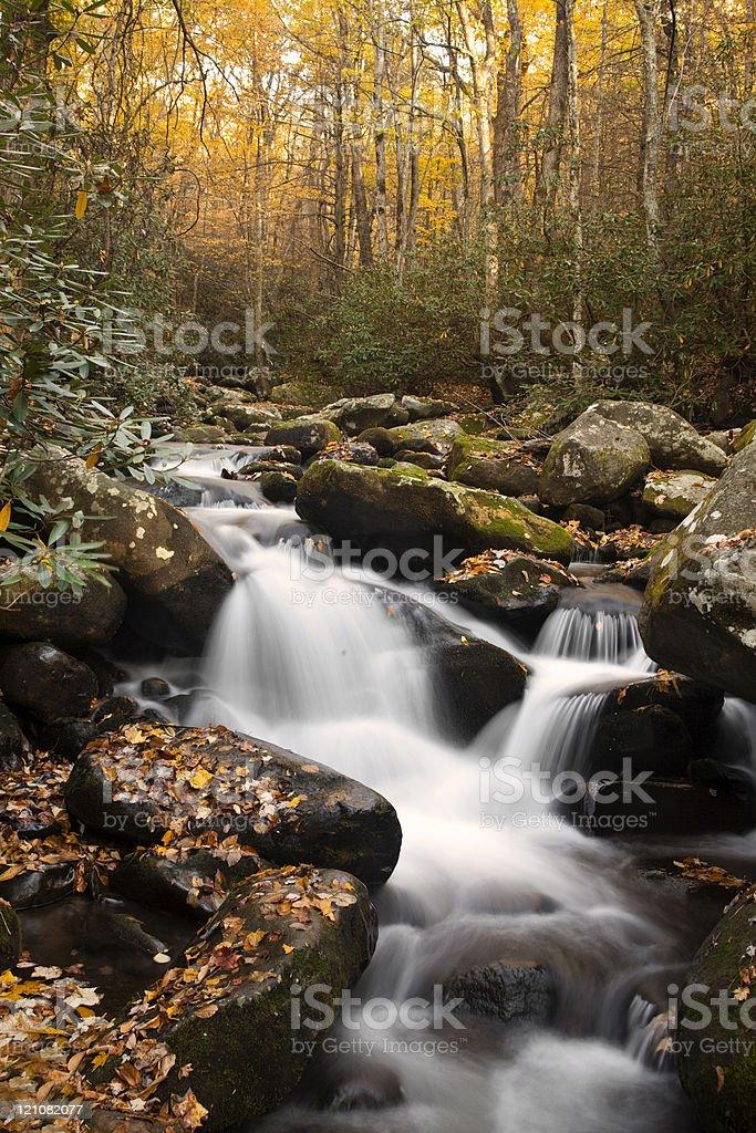 Small Waterfalls at Autumn royalty-free stock photo