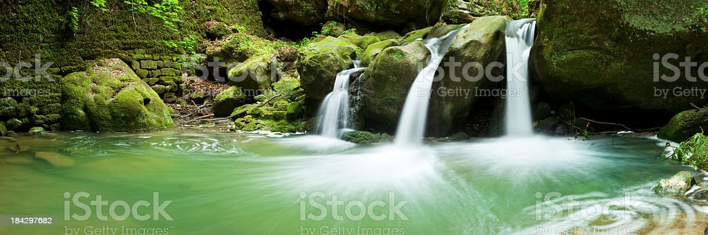 Small waterfalls in Mullerthal, Luxembourg royalty-free stock photo