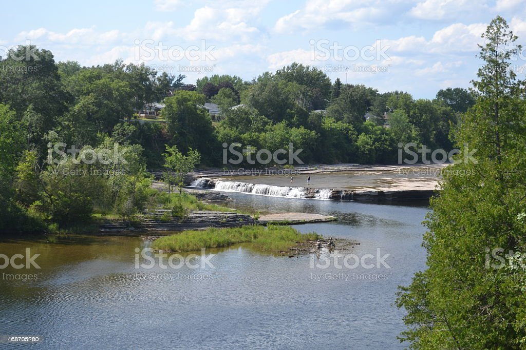 Small Waterfalls in Summer in Canada stock photo