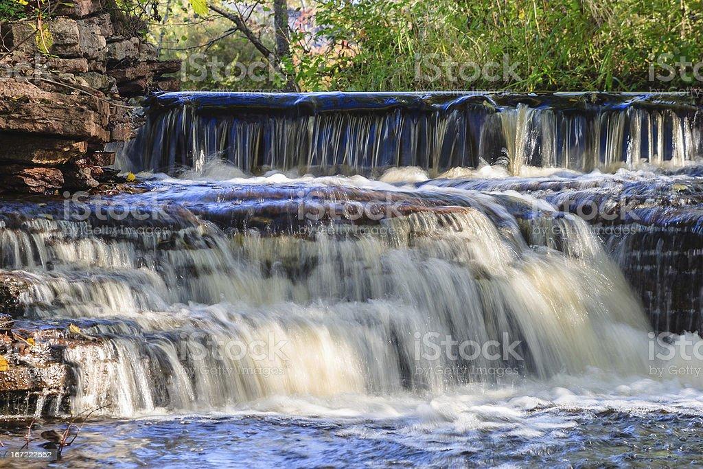 Small waterfalls royalty-free stock photo
