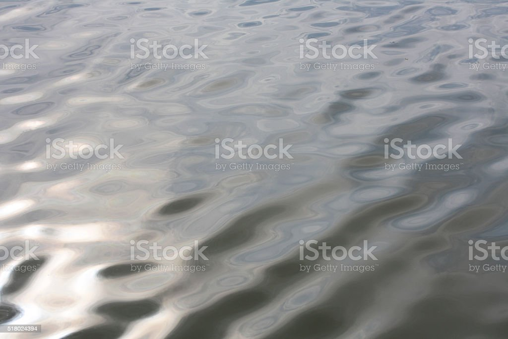 small waves on the surface of the lake, the abstract stock photo