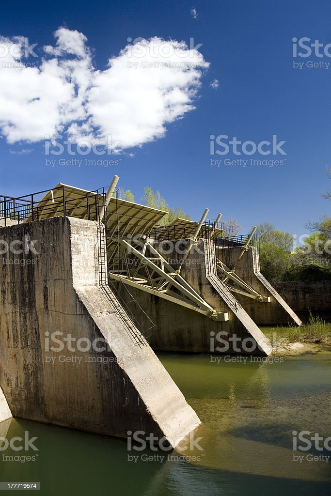 Small Weir royalty-free stock photo