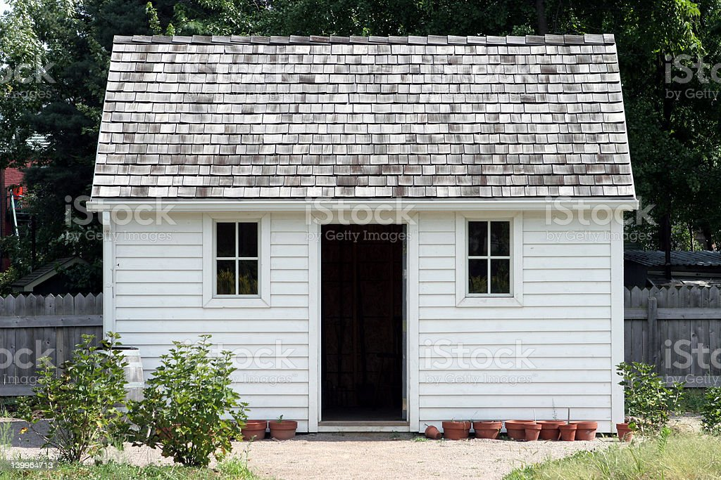 Small white house stock photo